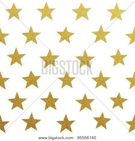 Gold glittering stars pattern