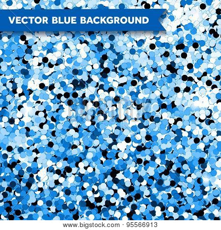 Vector Blue Glittering background