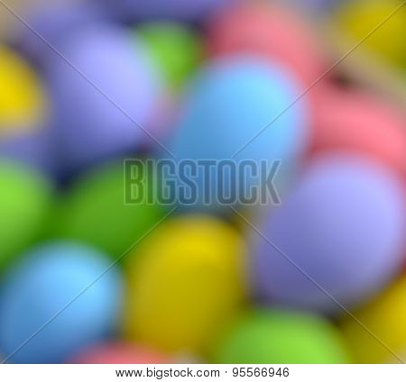 Blurred Colorful Egg For Background