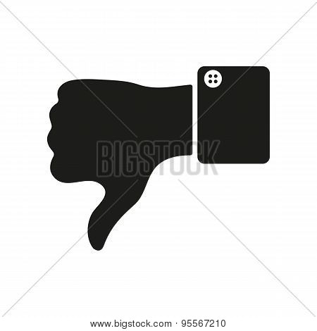 The Thumb Down Icon. Against And No Symbol. Flat