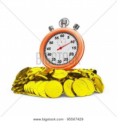 Stopwatch On Coins