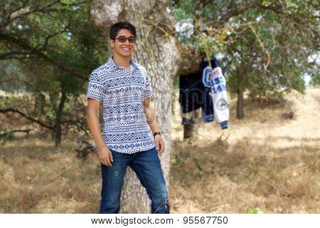 Teenage Boy In Park
