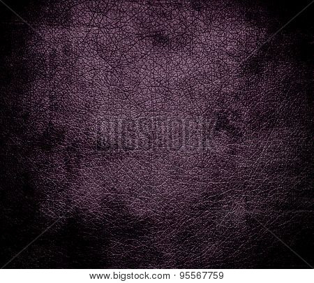 Grunge background of dark byzantium leather texture