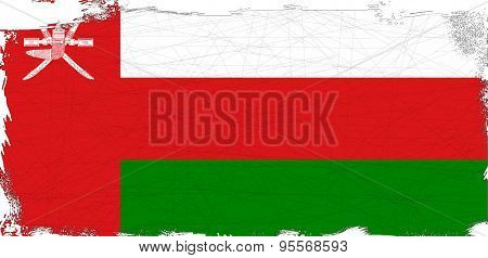 Flag Of Oman Grunge