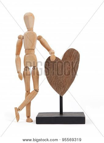 Wooden Mannequin With A Big Heart