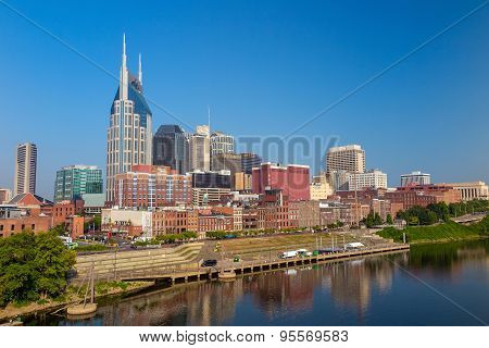 Nashville, Tennessee Downtown Skyline