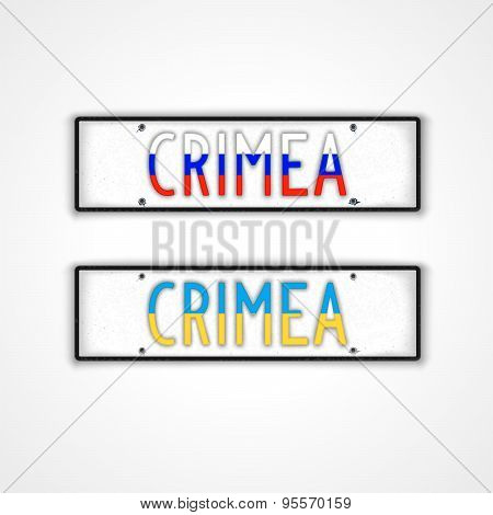 Crimean Car Signs