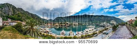 View On Kotor Bay And Ships