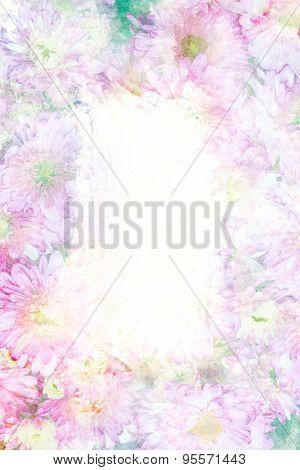 Flower Watercolor Frame.