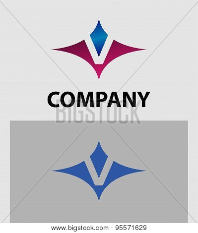 Abstract icons based on the letter V logo