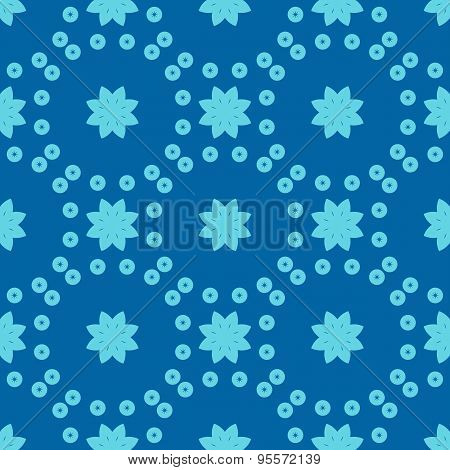 Seamless Floral Geometric Pattern