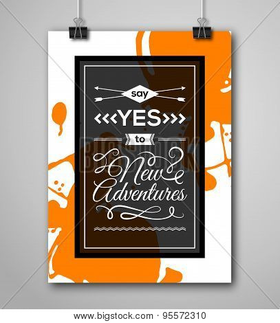Motivational Poster Say Yes To New Adventures