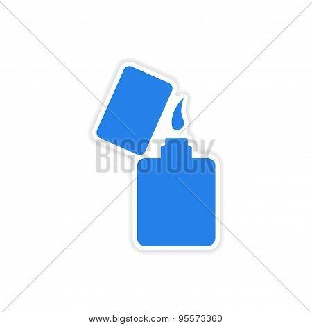 icon sticker realistic design on paper lighter
