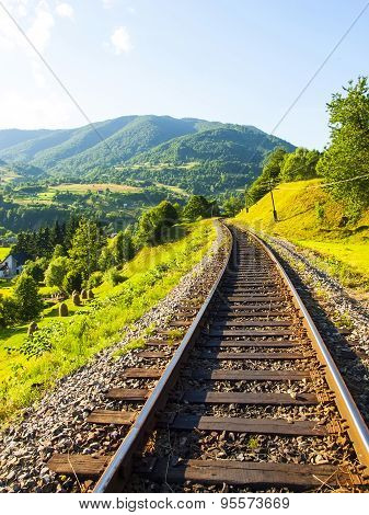 Railway In The Mountains.