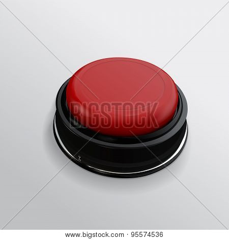 Red realistic button. In business. Vector  isolate technology bu