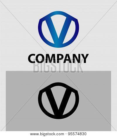 Vector illustration icon set of letter V