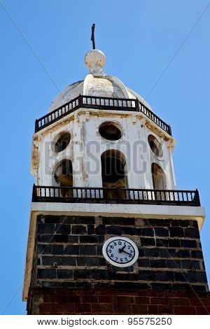 Lanzarote  Spain The Old Wall Tower In Teguise Arrecife