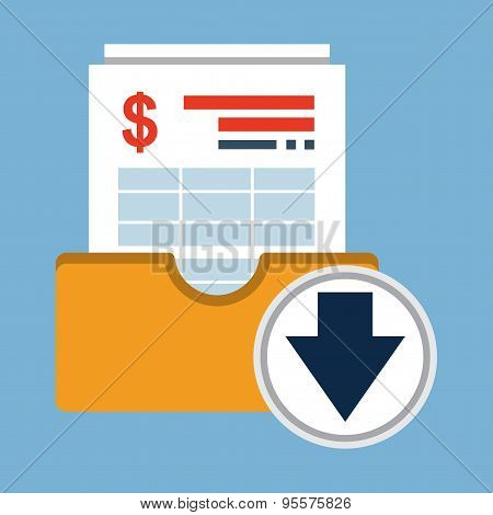 Invoice Archive.Vector Flat Icon