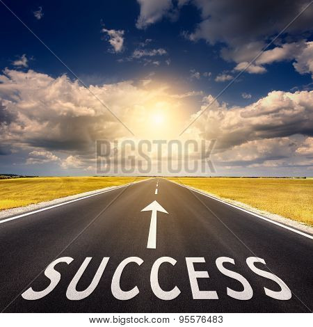 Open Road Business Concept For The Success
