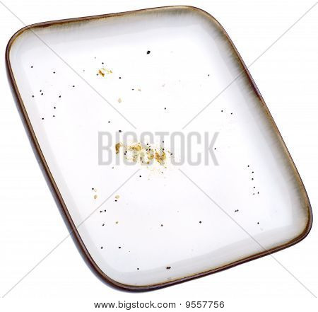 Empty Plate With Crumbs