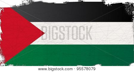 Flag Of Palestine Grunge