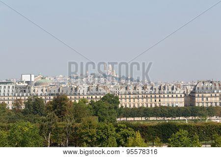 Paris - Montmarte and Sacre Coeur viewed from d'Orasay Museum