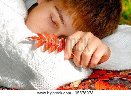 Teenager Sleep Outdoor