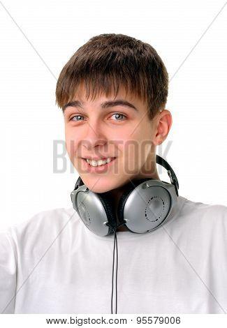 Teenager With Earphones