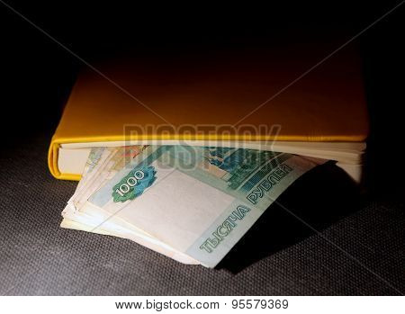 Russian Rubles In The Book
