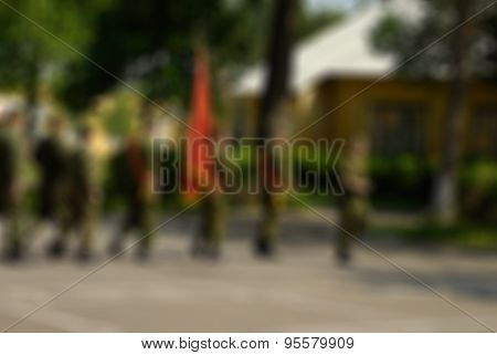 Russian army theme blur background