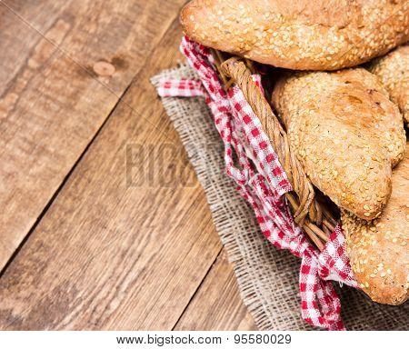 Freshly Baked Grain Bread With Sesame