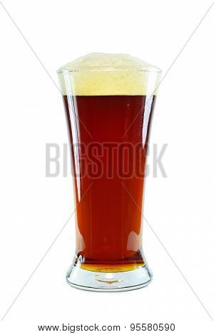 Glass Of Dark Beer On White Background