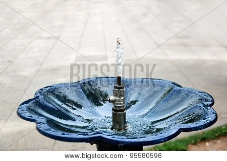 Drinking Fountain With Stream Of Water