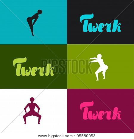 Twerk and booty dance background for dancing studio
