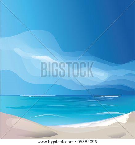 tropic exotic island beach landscape