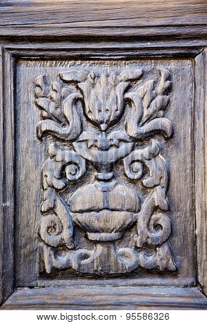 Lanzarote Abstract Door Wood   The Brown Spain