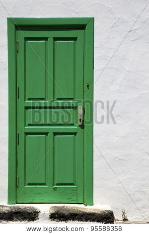 Spain  Piece Of Colorated Green Wood As A