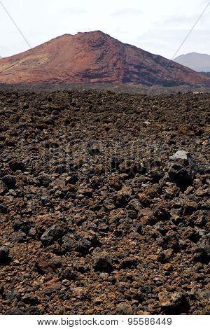 Volcanic Stone In Los Volcanes Lanzarote   Rock  Sky  Hill  Summer