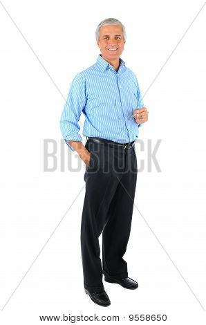 Businessman With Hand In Pocket And Glasses