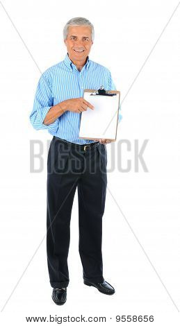 Businessman With Clip Board