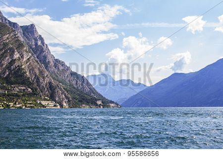 Alpine Lake Garda in the mountains