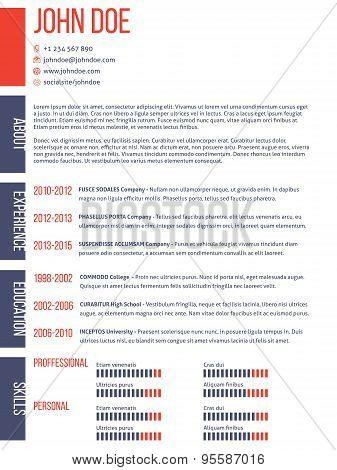 Simplistic Yet Modern Cv Resume Template
