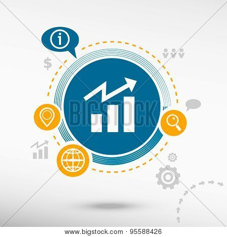 Business Graph Web Icon. Creative Design Elements.