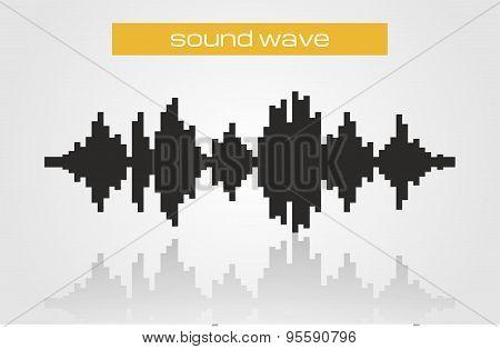 Halftone Sound Wave Modern Music Design Element Isolated On White Background