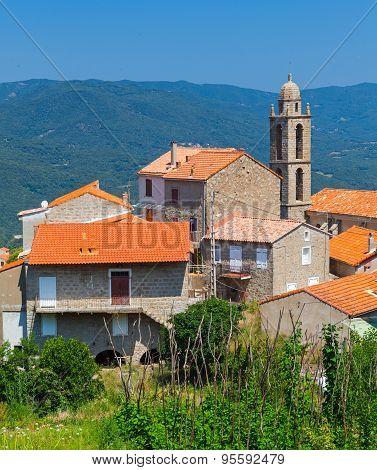Corsican Village Landscape, Petreto-bicchisano