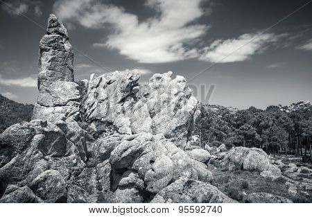 Rocky Mountains And Dramatic Sky, Corsica