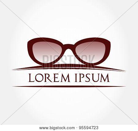 Eyeglasses symbol. Vector illustration.
