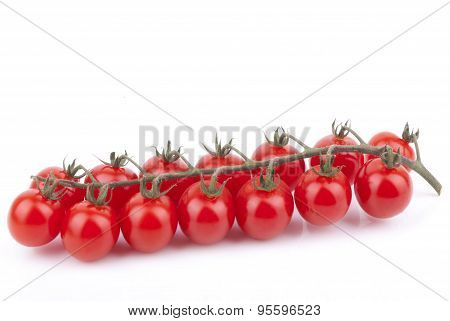 Red Cherry Tomatoes Isolated On A White Background.