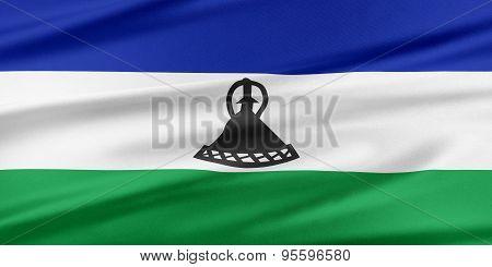 Lesotho Flag.