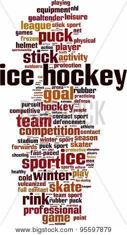 Ice Hockey Word Cloud